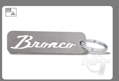 Nick's Trix Ford Bronco Stainless Steel Keychain